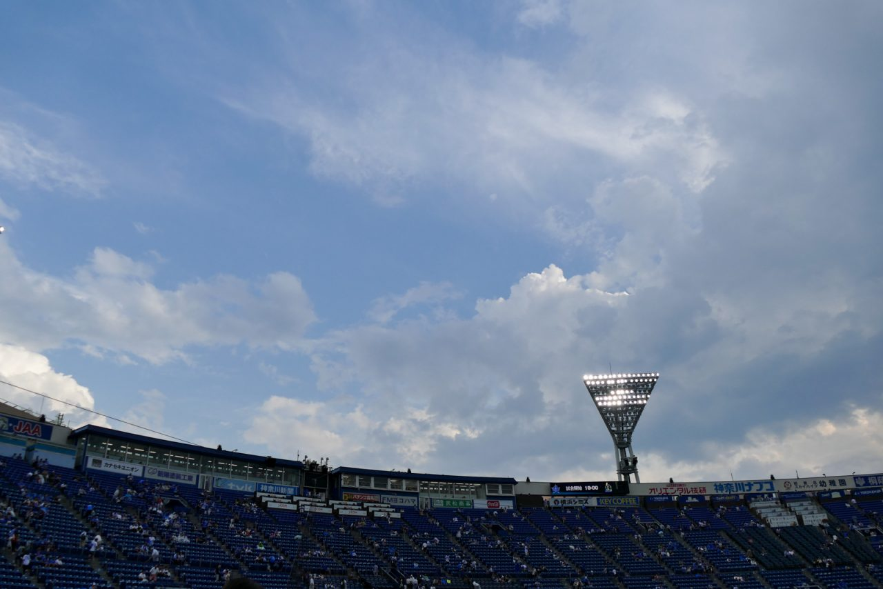 横浜スタジアムの空