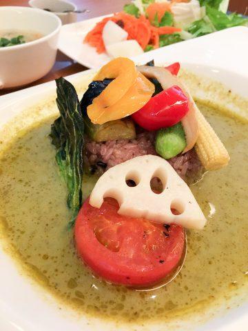 五穀米と彩り野菜のグリーンカレー
