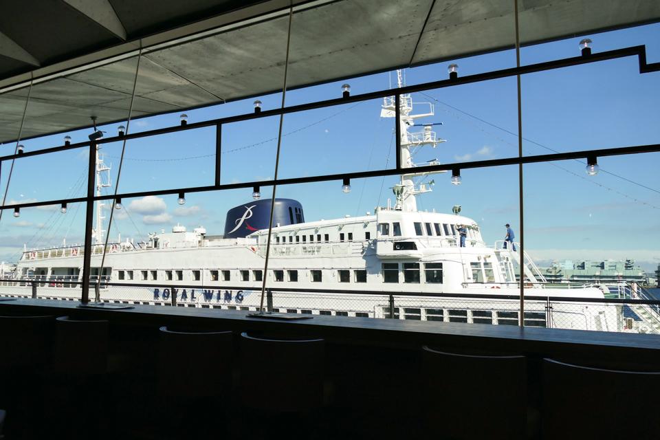 café & dining blue terminalからの風景