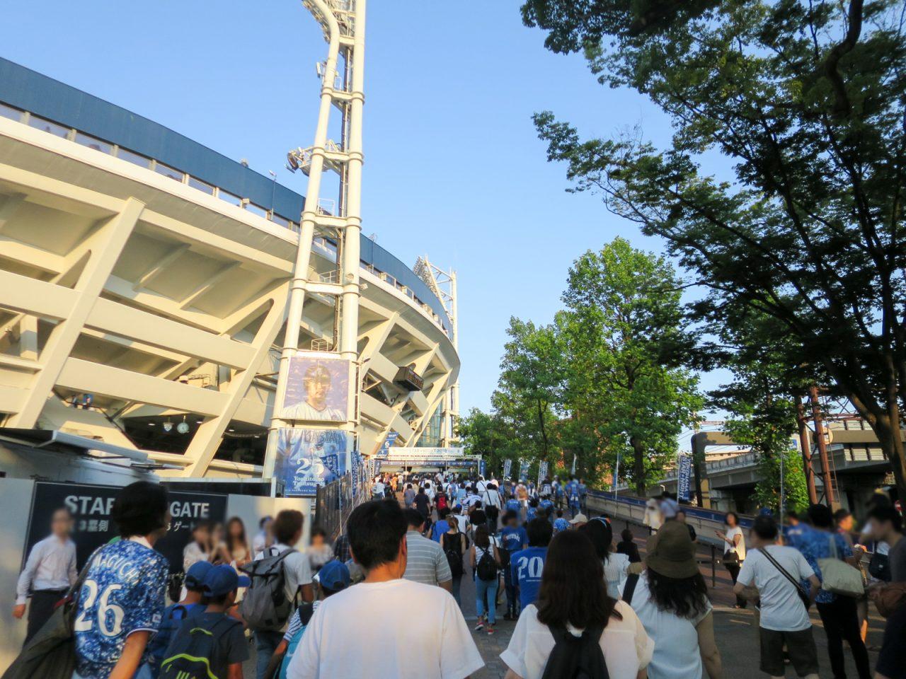 スターナイト2018の横浜スタジアム
