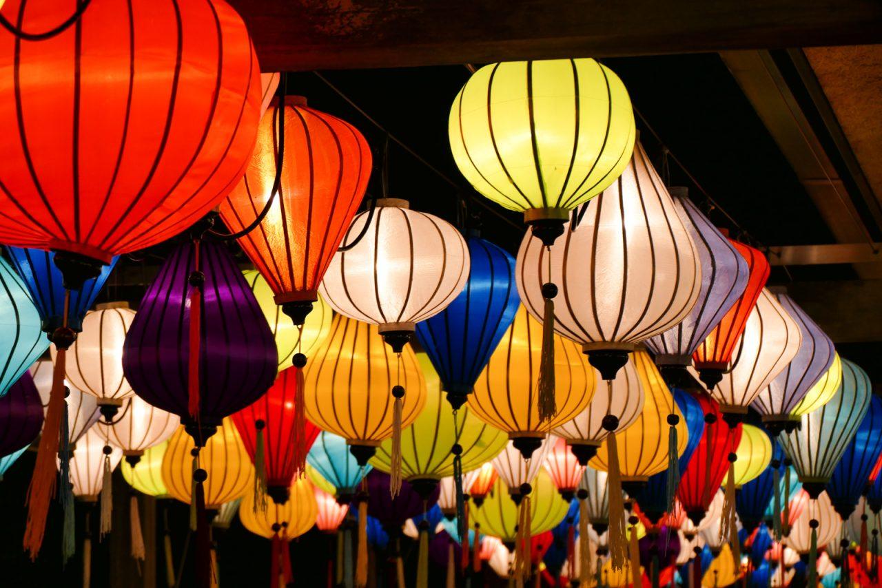 ズーラシア夜市のベトナムランタン