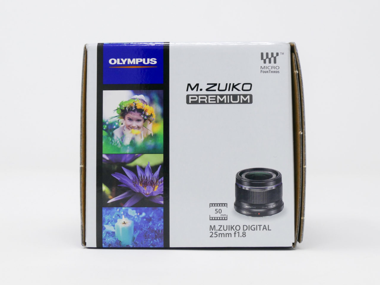 M.ZUIKO DIGITAL 25mm F1.8のパッケージ